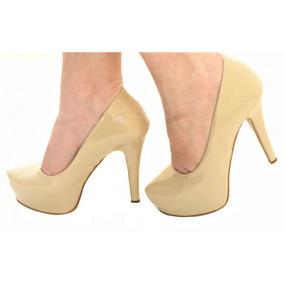58672ec12 Salto Nude Fechado - Sapatos para Feminino no Mercado Livre Brasil