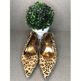 63579e0fd Sapato Scarpin Animal Print Onça Nine West Importado