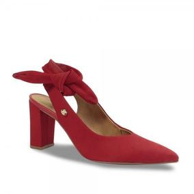 0aa50dcb4 Sapato Scarpin Chanel Bottero Feminino 295003 Couro Vermelho