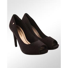 44c5ff614 Peep Toe Cetim Lilas Feminino Ramarim - Sapatos no Mercado Livre Brasil
