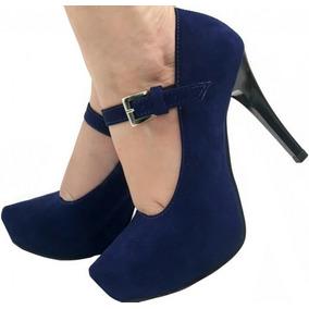 55707594d 1295302cz Sapato Boneca Comfortflex - Scarpins para Feminino Azul ...