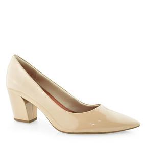 ab440fd746 Scarpin Nude Envernizado Femininos Usaflex - Sapatos no Mercado ...