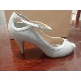 bb1cc5918 Sapato Festa Prata Peep Toe Nº 37 Ramarim - Sapatos no Mercado Livre ...