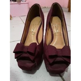 434fa3c72d Lindissimo Sapato Peep Toe Vinho Purpura - Sapatos no Mercado Livre ...