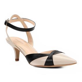 7778f31261 Scarpin Bicolor Preto E Branco Feminino Sapatos - Scarpins e ...