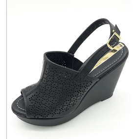 7b83c6e62 Sandalia Anabela Cafe Brasil Peep Toe - Sapatos no Mercado Livre Brasil
