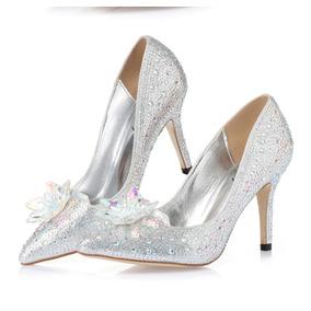 c9079c1cb Sapato Feminino Tipo Princesa Cristal 15 Anos Debutante