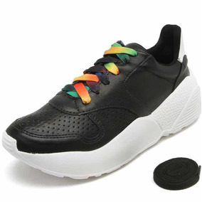 fcb33bef5bcc6 Tênis Via Marte Dad Sneaker Chunky Preto Sola Alta Colorido
