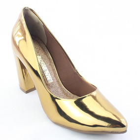9436e8e216 Scarpin Dourado Dakota Via Marte - Sapatos no Mercado Livre Brasil