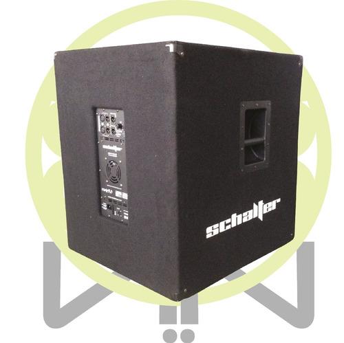 schalter cronos subwoofer grave amplifi 18 pulgadas 800w rms