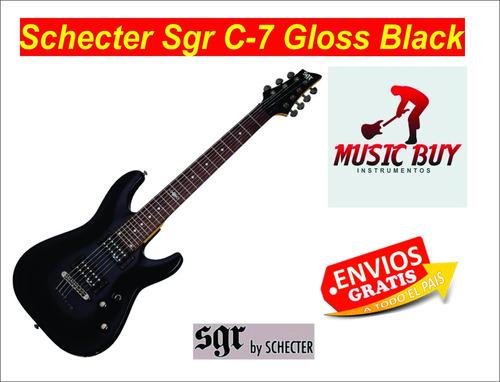 schecter sgr c-7 gloss black 7 cuerdas envio gratis ********