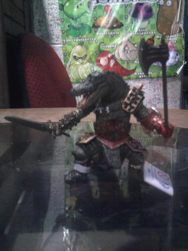 schleich guerrero cocodrilo importado 12 cms. aprox.