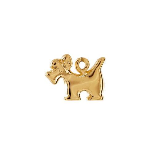 schnauzer perro con cadena chapa de oro 22 k
