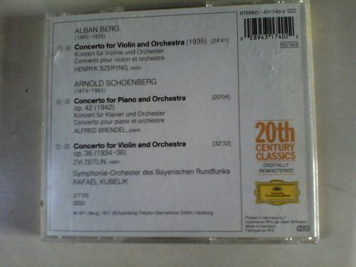 schoenberg berg  cd de musica clasica add original