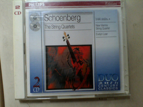 schoenberg berg  cd de musica clasica  original doble disco