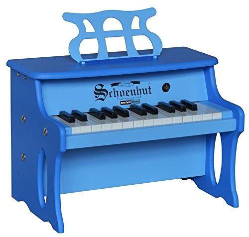 schoenhut 25 key 2 entonados mesa piano azul one size