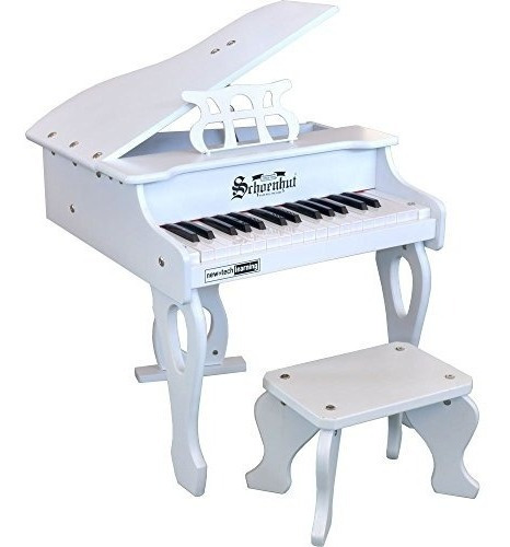 schoenhut 30 key digital bebé grand juguete piano blanco tal