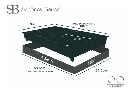 schönes bauen parrilla de inducción magnética nuremberg