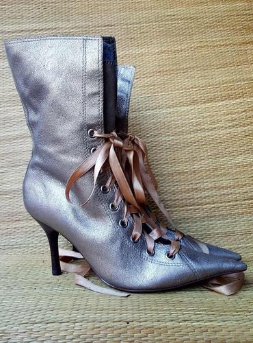 schultz para jorge alex bota couro prata velha tenho farm