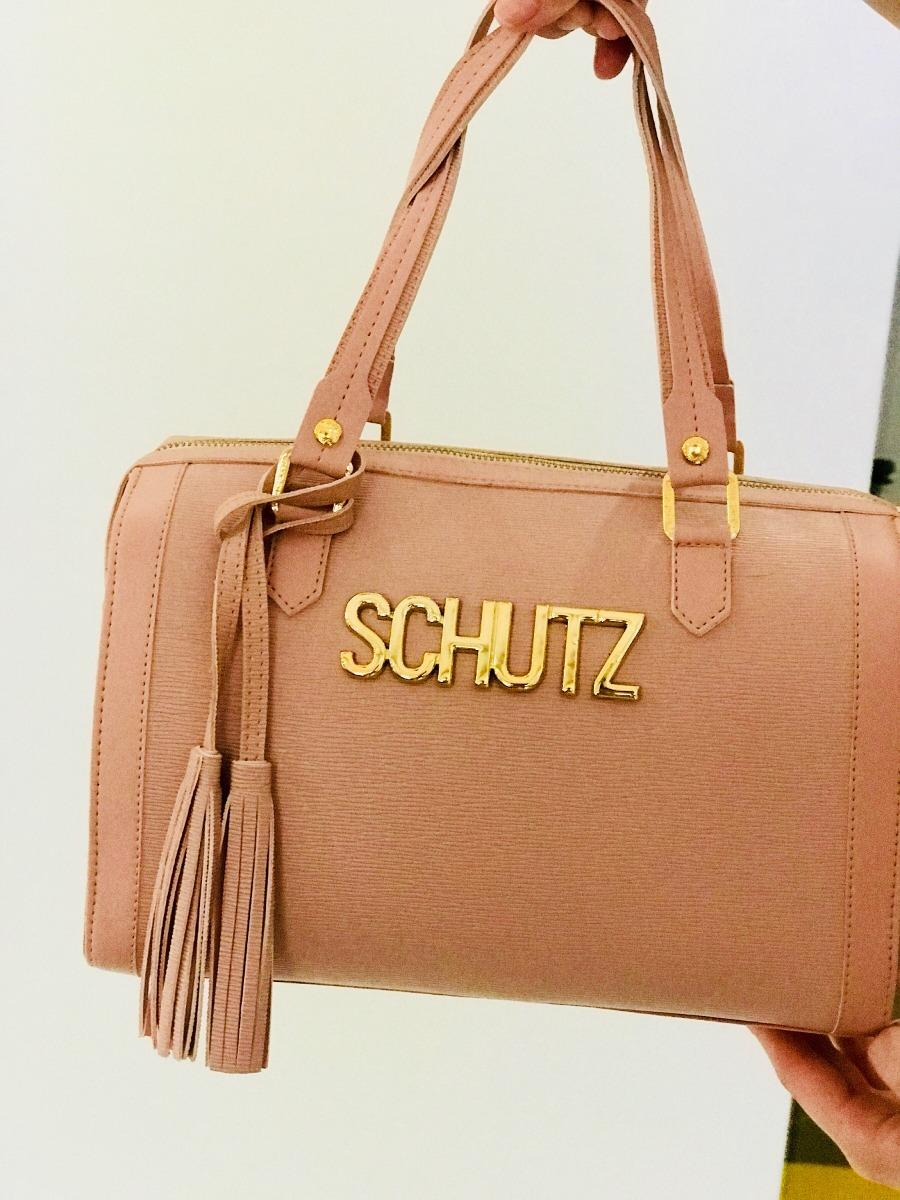 Bolsa Dourada Schutz : Bolsa ba? sch?tz rosa bebe com alca transversal r