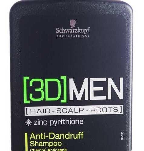 schwarzkopf 3d men anti dandruff shampoo anti caspa x250ml