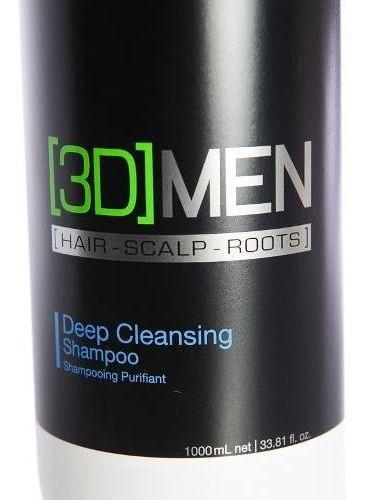 schwarzkopf 3d men shampoo deep cleasing pelo graso 1000 ml