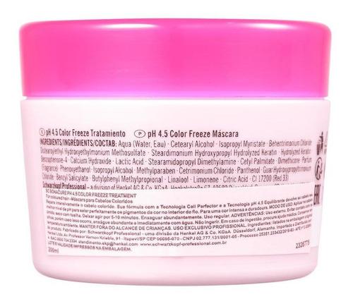 schwarzkopf bc color freeze máscara para cabelos coloridos