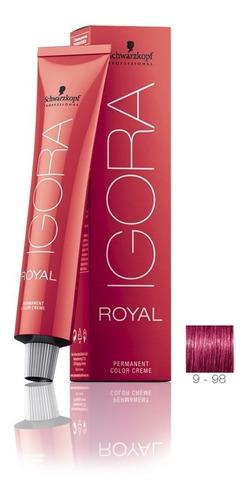 schwarzkopf igora royal 9-98 louro extra claro violeta verme