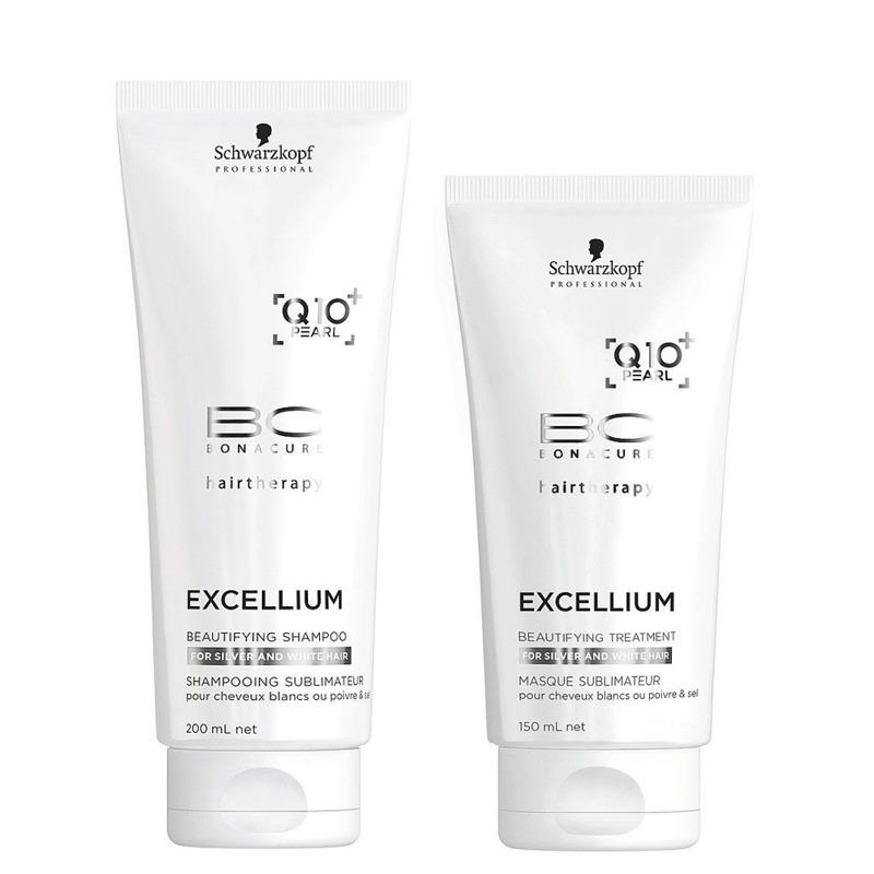 d2a9df722cf18 schwarzkopf kit 9 excellium beautifying shampoo + mascara. Carregando zoom.