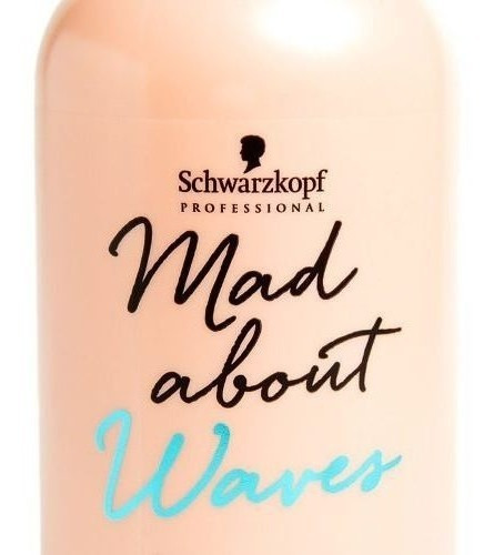 schwarzkopf mad about waves shampoo ondas sin sulfato 300ml