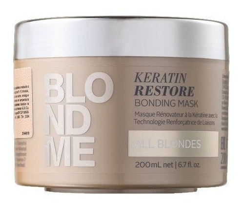 schwarzkopf máscara blondme keratin restore 200ml