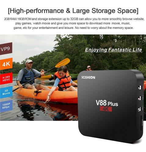 scishion v88 plus smart android 8.1 tv box rk3328 quad core