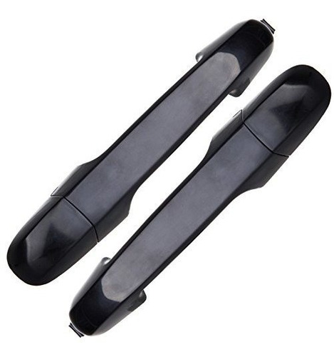 scitoo 2pcs manija de puerta negro exterior trasero derecho