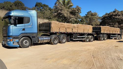 scânia r-510 2018 highline streamline + rodotrem graneleiro