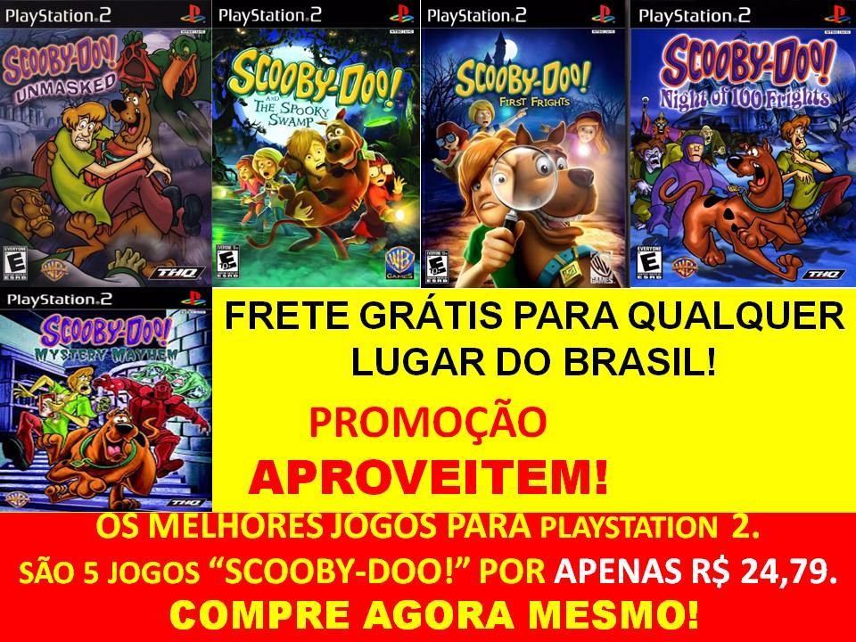 Scooby Doo And The Spooky Swamp Ps2 5 Jogos Play Station 2 R 24