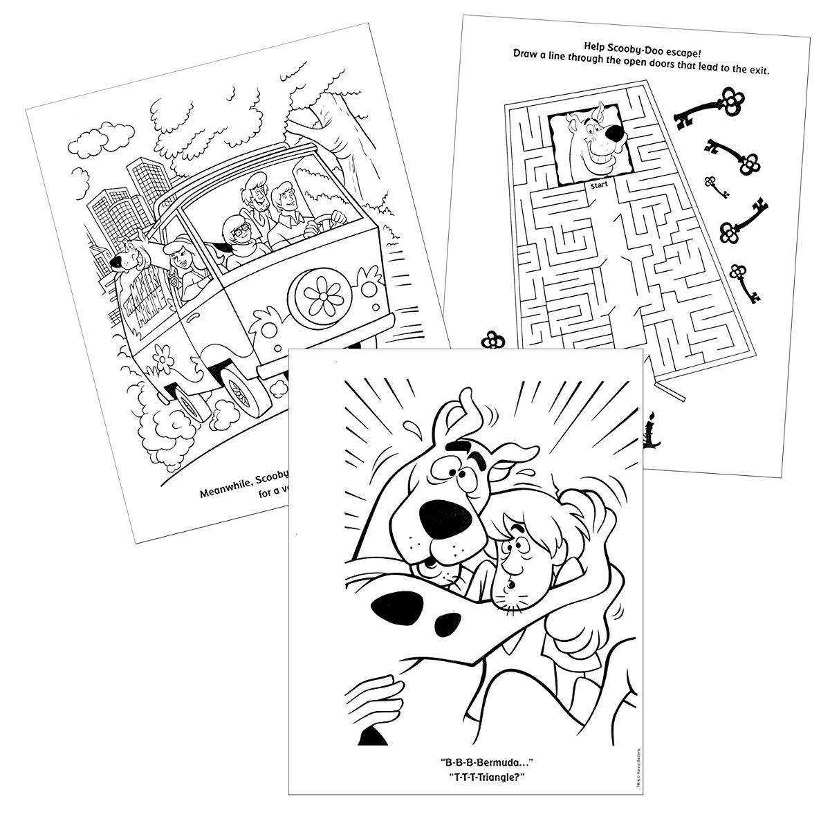 Scooby Doo Libro Para Colorear Con Pegatinas, Posters, Carta ...
