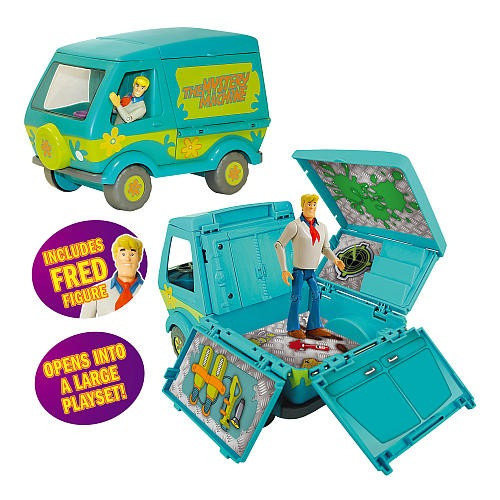 scooby doo set maquina misteriosa + fred - fair play toys