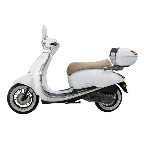scooter beta tempo 150 retro baul y parabrisas moto arrow