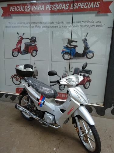 scooter cinquentinha 49cc ciclomotor cor prata 4 tempos