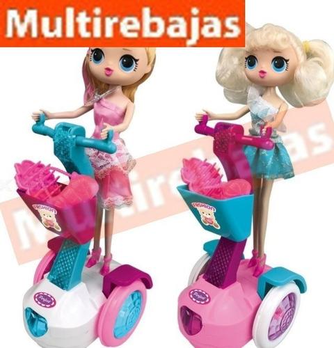 scooter con luces mas muñeca lol