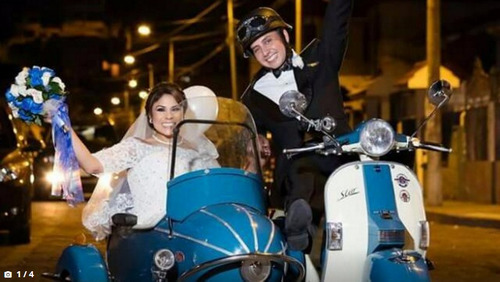 scooter con sidecar de alquiler para eventos