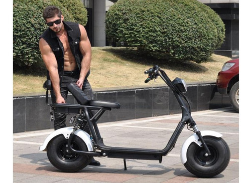 scooter eléctrica, modelo clásico - estilo motocicleta