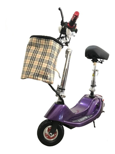 scooter electrico con asiento plegable