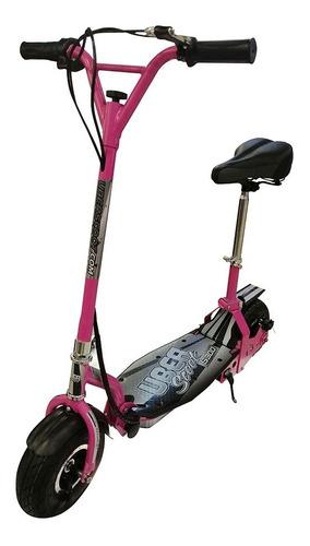 scooter eléctrico con asiento uberscoot rosado