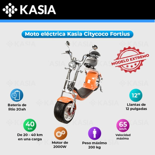scooter electrico kasia citycoco fortius internacional