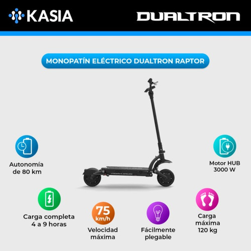 scooter electrico minimotors dualtron raptor internacional