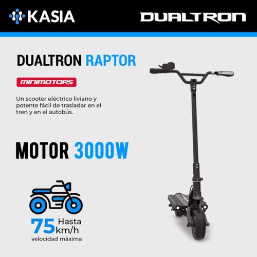 scooter electrico minimotors dualtron raptor monopatin