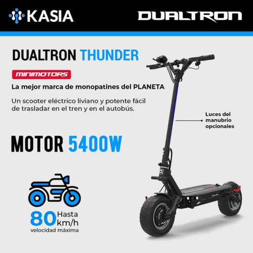 scooter electrico minimotors dualtron thunder bateria lg