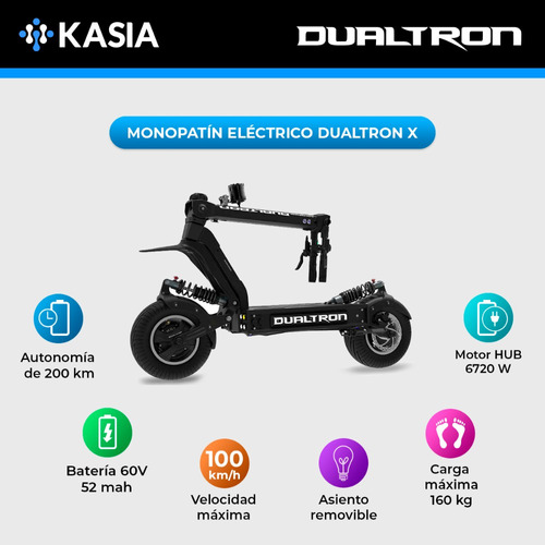 scooter electrico minimotors dualtron x maxima potencia
