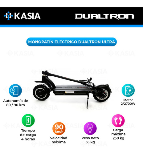 scooter electrico minimotors monopatin dualtron ultra